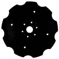 """White Planter Flat Plain Concave Disc, 14"""" X 12 Gauge"""