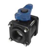 """1-1/2"""" Poly Valve with T Handle Blue"""