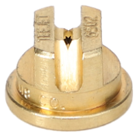 Standard Flat Fan Spray Tip, Brass, Size 02, 65⁰