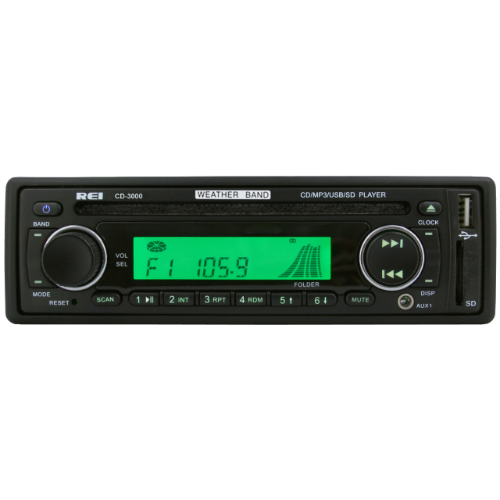AM/FM/CD/WB Stereo Radio with D6 Connector