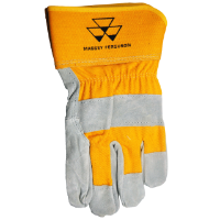 Massey Branded, Suede Cowhide Gloves, Size Large