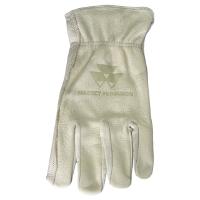 Massey Branded Buffalo Leather Gloves, Size Extra Large