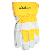 Challenger Branded, Suede Cowhide Gloves, Size Large